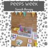 Peeps Week Speech Therapy