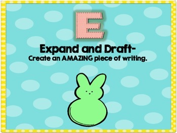 Peeps Writing Goal Board- Through the Writing Process
