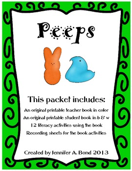 Peeps - an original printable book and activities