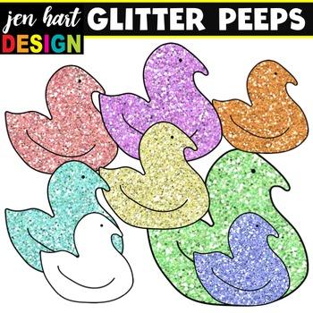 Peeps Clip Art {GLITTER}