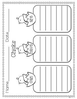 Peeps in a Basket- Spring Craft and Writing Templates
