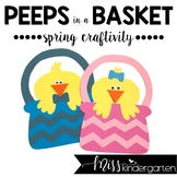 Easter Craft or Spring Craft and Writing Templates {Peeps in a Basket}