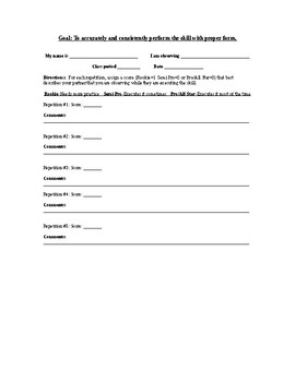 Peer Assessment Feedback and Coaching Form