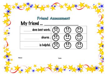 Peer Assessment for kindergartener / pre-schooler.