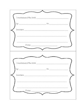 Peer Book Recommendation Cards