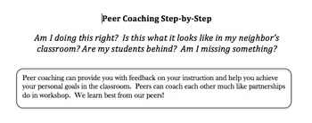 Peer Coaching Step-by-Step