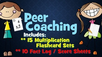 Multiplication Peer Coaching flashcards and fact record sheets!