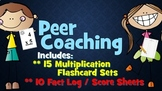 Multiplication Flashcards and fact record sheets!Peer Coaching