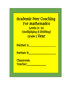 RTI Peer Coaching for Mathematics - Grade 3 Multiplication and Division