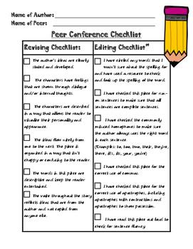 Peer Conference Checklist