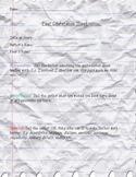 Peer Conference Sheet for Writer's Workshop
