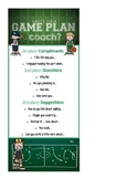 Peer Conferencing (Coaching) Game Plan Card