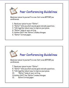 Peer Conferencing Guidelines