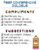 Peer Conferencing Sentence Starter Cards