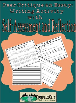 Peer Critique for Essay Writing with Self-Assessment and Reflection