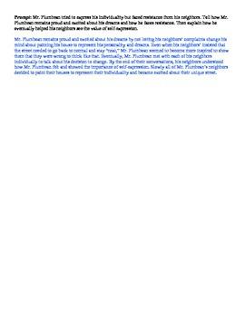 Peer Discussion: The Big Orange Splot by Daniel Manus Pinkwater