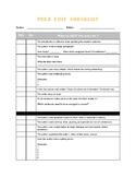 Peer Edit Checklist for any grade