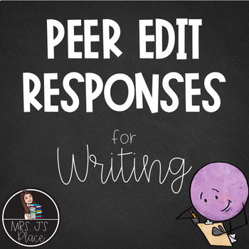 Peer Edit Response Form