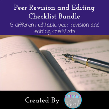 Peer Edit and Revision Checklist Bundle