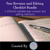 Peer Edit and Revision Checklist Bundle