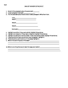 Peer Edit for Essays