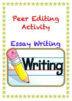 Peer Editing Activity Writing Essays