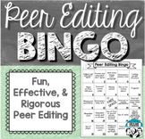 Peer Editing Bingo