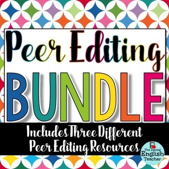 Peer Editing Bundle for Secondary Students