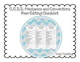 Peer Editing Writing Checklist
