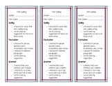 Peer Editing Checklist for Narrative Writing