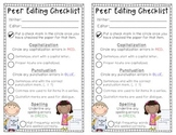 Peer Editing Checklist FREEBIE!