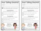Peer Editing Checklist FREEBIE!