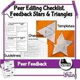 Peer Editing Checklist and Peer Feedback Stars and Triangles