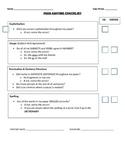Partner & Peer Editing Checklist- CUPS