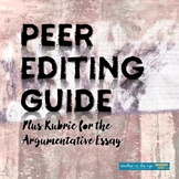 Peer Editing Form/Guide and Rubric for Argumentative Essay