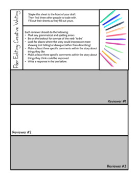 Peer Editing: Four Guided Workshops