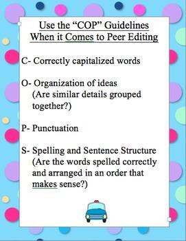 Peer Editing Guidelines