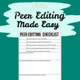 Peer Editing / Proofreading Checklist