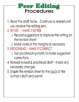 Peer Editing Protocol