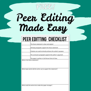 what is peer editing research paper