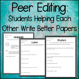 Peer Editing: Students Helping Each Other Write Better Papers