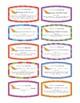 Peer Editing Task Cards - Lightening Round Peer Editing