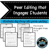 Peer Editing Worksheets Common Core Student Friendly