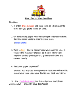 Peer Editing Writer's Workshop (Sequential Order)