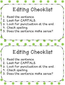 Peer Editing Writer's Workshop