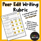 Peer Edit Writing Rubric