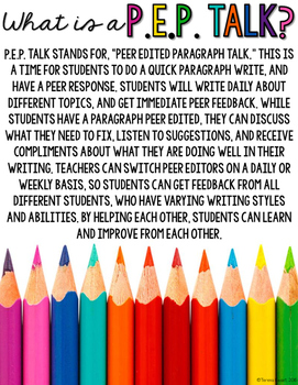 Peer Editing and Paragraph Writing for October 3rd, 4th, 5th, 6th Grade