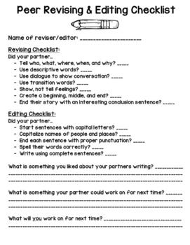 Peer Editing and Revising