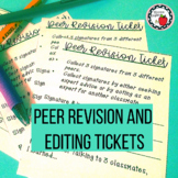 Peer Editing and Revision Tickets