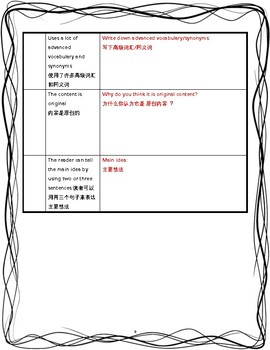 Peer Editing in Chinese and English langauge (Common Core)